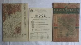 IGLESIAS, Foglio 45, CARTA D'ITALIA, TOURING CLUB ITALIANO, Inizi '900, Scala 1:250.000 - Carte Geographique