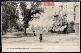BLAYE - COURS DE LA REPUBLIQUE & ALLEES DES SOUPIRS - PHARMACIE - DRAPERIE - ANIMATION - Blaye