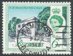 Bermuda. 1962-68 QEII. 6d Used. Upright Block CA W/M SG 168 - Bermuda