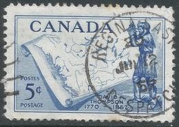 Canada. 1957 Death Centenary Of David Thompson. 5c Used SG 496 - 1952-.... Reign Of Elizabeth II