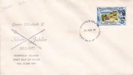 QUEEN ELIZABETH II. SILVER JUBILEE 1952-1977. NORFOLK ISLAND. FDC-TBE-BLEUP - Norfolk Eiland