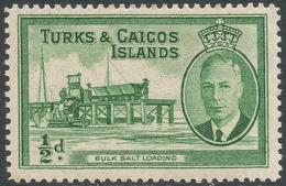 Turks & Caicos Islands. 1950 KGVI. ½d MH. SG 221 - Turks And Caicos