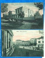 Italie-Lombardie - CHIARI -2 Cartes ( Piazza Zanardelli, OspedaleMellini )  Ed Briconi     Bon état    CPA - Italia