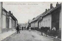 CPA (80)  PLESSIER-ROZAINVILLERS.  Rue De L'église, Animé, Maréchal-ferrant, Cheval...B439 - Francia