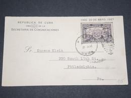 CUBA - Carte Souvenir Des 25 Ans D'Indépendance Pour Philadelphie En 1927 - L 13003 - Cuba
