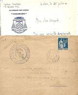 """UNITE MARINE DAKAR  Lettre Du Batiment Auxilliaire """"El Kantara""""pour Le Croiseur """"Dunkerque""""  5/07/40 - Postmark Collection (Covers)"""