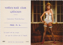 CALENDRIER PUBLICITAIRE SEXY -  GILLY  CHARLEROI BELGIQUE 1969  - Ursula Andress - Petit Format : 1961-70