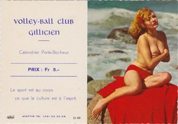 CALENDRIER PUBLICITAIRE SEXY -  GILLY  CHARLEROI BELGIQUE 1969 - Calendriers