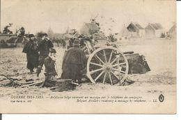 ARMEE BELGE 1914-1918 ARTILLERIE - Guerre 1914-18