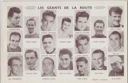 Les Géants De La Route Tour De France Carton Portraits Cyclistes éditeur Sans 9.5x14.cm Modele (A) Bobet Etc - Cyclisme