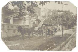 Cpa Asie, Tonkin, Vietnam ? Carte-photo, Attelage, Pouss-pouss  ( état ) - Other