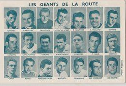 Les Géants De La Route Tour De France Carton Portraits Cyclistes éditeur Sans 9.5x14.cm Modele (B) Bobet Etc - Cyclisme