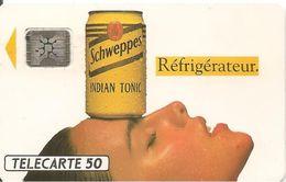 CARTE-PUBLIC-50U-F287-SC4.530--08/92-5 TGE-42205-SCHEPPES REFRIGERATEUR-UTILISE-TBE - France