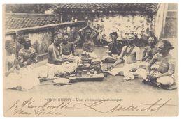 Cpa Inde, Pondichery - Une Cérémonie Brahamique - Inde