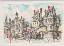Carte Postale       BARRE  DAYEZ       FONTAINEBLEAU       LE PALAIS - COURS DES ADIEUX      2136  A - Fontainebleau