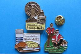 3 Pin's, SENNE-ANKE, Beurre De Paisan, Agriculture - Alimentation