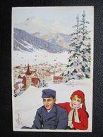 AK SCHWEIZ Künstlerkarte Carlo Pellegrini 1914 ///  D*30005 - Künstlerkarten