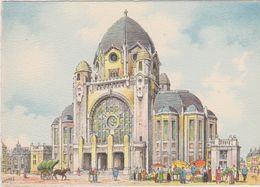 Carte Postale       BARRE  DAYEZ      HENIN -LIETARD   L'église  St Martin     Illustrateur  BARDAY   2262   B - France