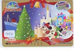Carte Prépayée Japon  (1453)  DISNEY * RESORT LINE * CHRISTMAS FANTASY  * JAPAN PREPAID CARD * - Disney