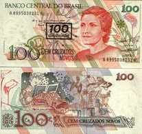 Brésil - Brazil 100 Cruzeiros / 100 Cruzados Novos Pick 224b UNC - Brazilië
