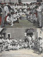 CORVEE DE PLUCHES ! CASERNE D' EVREUX 1907 ET CASERNE DANS LA MARNE 1924 CORVEE DE POMMES DE TERRE - Humor