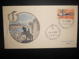 Italie Premier Jour , 17 Olimpiade Napoli 1960 - 6. 1946-.. Repubblica