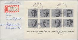 Bock 3 20.Juli 1944 Einzelfrankatur Auf Einschreiben KRONBERG (Ts) Nach Hofheim  - Unclassified