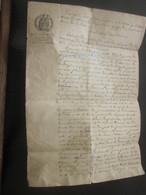 1853 Manuscrit Ventatine-Souzzoles-Naples Italia-Tribunal Civil De Marseille Traduit De L'italien Acte Naissance Colonna - Manuscripts