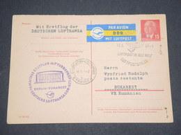 ALLEMAGNE - Entier Postal De Berlin Pour Bucarest En 1963 Par Avion - L 13028 - Postkarten - Gebraucht