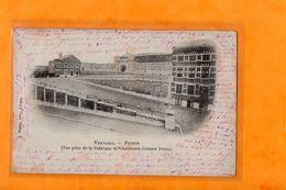 VERVIERS  -  PRISON  -  VUE PRISE DE LA FABRIQUE DE CHAUSSURES CRUTZEN FRERES  -  Décembre 1898 - Verviers