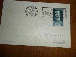 ITALIA  REGNO  CARTOLINA  CON ANNULLO FUHRER -DUX  1938 - Storia Postale