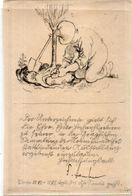 Joli Dessin Avec Texte Et Signature A Décripter   (102343) - Prints & Engravings