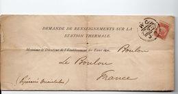 1880: Demande De Renseignement Sur Station Thermale Avec Timbre YT N° 49 - Marcofilie