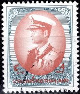 THAILAND 1996 King Rama IX In Admiral's Uniform - 4b - Red And Blue FU - Thailand