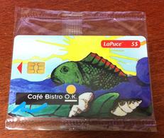 CANADA CARTE TÉLÉPHONIQUE LAPUCE QUÉBÉCTEL POISSON CAFÉ BISTRO PHONECARD NEUVE CARD 5$ QUEBEC POUR COLLECTION - Canada
