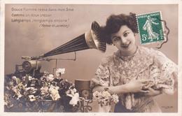 CPA Gramophone Phonographe Appareil Musical Musique Music Fantaisie (2 Scans) - Otros