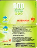 F.Y.R.O.M. - Mobimak Prepaid Card 500 Dinars, Used - Macedonia