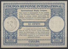 CANADA London Type XVr 12 CENTS International Reply Coupon Reponse Antwortschein IAS IRC  O SASKATOON UNIVERSITY 12.2.52 - Antwortcoupons