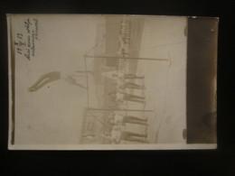1913 RUSSIA BAKU GYMNASTS REAL PHOTO, TEXT In ESTONIAN - Russie