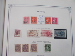 FRANCE  Collection Sur Pages D'albums Année 1923 / 1959 Obliteres La Plupart Quelques Neufs * Ou ** - France