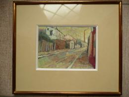 LEFORT - Rue De La Fraternité à Bagnolet - Gouache 2e Moitié XXe S. - Waterverf