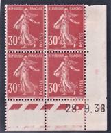 YT 360 Semeuse Camée CD 28/09/38 N* MH - Coins Datés