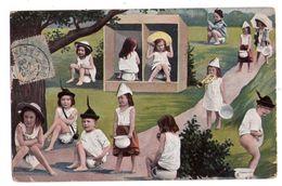 0473 - Enfants Multiples Sur Leurs Pots De Chambre - N° 407 - - Bebes
