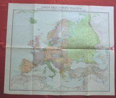 CARTA DELL'EUROPA POLITICA (1919), Istituto Geografico De Agostini Scala 1:7.500.000 - Carte Geographique
