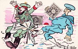 CPA  Guerre Russo-Japonaise Caricature Satirique Propagande Cuirassé Potemkine Illustrateur E. MULLER (2 Scans) - Ilustradores & Fotógrafos