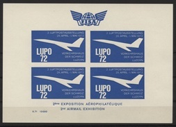 LUPO 72 Bloc Non Dentelé 2ème Luftpostausstellung 1972 - Concorde