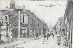 CPA (60)  SAINT-JUST-EN-CHAUSSEE.  La Rue Carnot, Animé...B446 - Saint Just En Chaussee