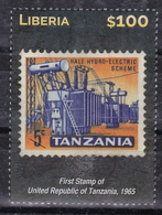 Liberia 2015 (B19) Stamp On Stamp First Stamp Of Tanzania MNH ** - Liberia