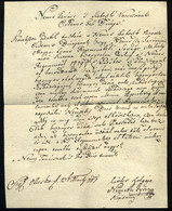89294 1787. Dekoratív Bélyeg Előtti Levél  Szoboszlóra Küldve, Németh György Hajdúkapitány , Szép Magyar Nyelvű Levele. - Hungary
