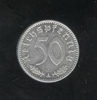 50 Pfennig  Allemagne/Germany 1943 A - 50 Reichspfennig
